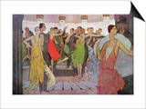 "Paris by Night, a Dance Club in Montmartre, from ""L'Amour Et L'Esprit Gaulois"" Art by Manuel Orazi"