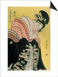 Takigawa from the Tea-House, Ogi Posters by Kitagawa Utamaro