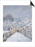 Snow at Louveciennes, 1878 Poster by Alfred Sisley