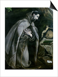 St. Francis of Assisi, 1580-95 Art by  El Greco