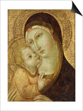Madonna and Child Print by  Sano di Pietro