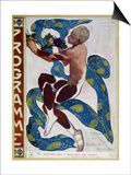 "Nijinsky's Faun Costume in ""L'Apres Midi D'Un Faune"" by Claude Debussy Prints by Leon Bakst"