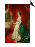 Empress Eugenie of France (1826-1920) Wife of Napoleon Bonaparte III (1808-73) Art by Franz Xavier Winterhalter