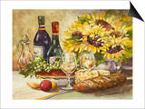 Wine and Sunflowers Art by Jerianne Van Dijk