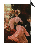 The Reception Or, L'Ambitieuse circa 1883-85 Prints by James Tissot