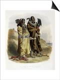 Sih-Chida and Mahchsi-Karehde, Mandan Indians Prints by Karl Bodmer