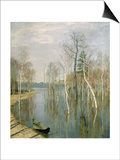 Spring, High Water, 1897 Posters by Isaak Ilyich Levitan