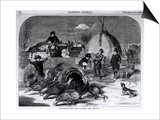 "Thanksgiving Day: Ways and Means, from ""Harper's Weekly,"" 27th November 1858 Posters by Winslow Homer"