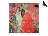 Women Friends, 1916-17 (Destroyed in 1945) Print by Gustav Klimt