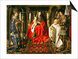 Madonna and Child with Canon Joris Van Der Paele, 1436 Posters by  Jan van Eyck