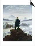Vandreren over tåkehavet, 1818 Poster av Caspar David Friedrich