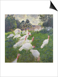 The Turkeys at the Chateau De Rottembourg, Montgeron, 1877 Prints by Claude Monet