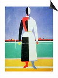 Woman with a Rake, circa 1928-32 Posters by Kasimir Malevich