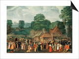 A Fete at Bermondsey, circa 1570 Print by Joris Hoefnagel
