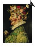 Spring, 1573 Plakater af Giuseppe Arcimboldo