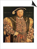 Portrait of Henry VIII (1491-1547) Aged 49, 1540 Prints by Hans Holbein the Younger