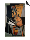 The Violin, 1916 Art by Juan Gris