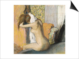 After the Bath, Woman Drying Her Neck, 1898 Posters by Edgar Degas