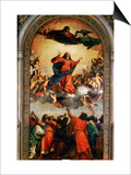 The Assumption of the Virgin, 1516-18 Plakater af  Titian (Tiziano Vecelli)