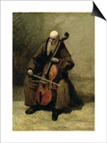 The Monk, 1874 Prints by Jean-Baptiste-Camille Corot