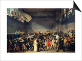 The Tennis Court Oath, 20th June 1789, 1791 Prints by Jacques-Louis David