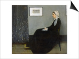 Arrangement in Grey and Black No.1: Portrait of the Artist's Mother, c.1871 Posters by James Abbott McNeill Whistler