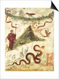 Bacchus Standing Before Vesuvius Prints