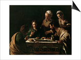 Supper at Emmaus, 1606 Art by  Caravaggio