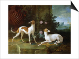Misse and Turlu, Two Greyhounds of Louis XV Prints by Jean-Baptiste Oudry