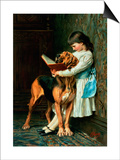 Naughty Boy or Compulsory Education Prints by Briton Rivière