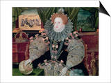 Elizabeth I, Armada Portrait, circa 1588 Prints by George Gower