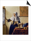 Young Woman with a Water Jug, circa 1662 Posters by Jan Vermeer