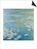 Nympheas at Giverny, 1908 Prints by Claude Monet