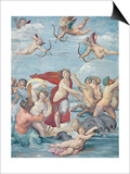 The Triumph of Galatea, 1512-14 Affiche par  Raphael