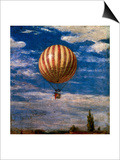 The Balloon, 1878 Print by Paul von Szinyei-Merse