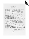 """Recueillement,"" Signed Sonnet, 1861 Prints by Charles Pierre Baudelaire"