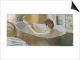 Woman in Her Bath, Sponging Her Leg, circa 1883 Art by Edgar Degas
