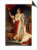 Napoleon in Coronation Robes, circa 1804 Prints by Francois Gerard