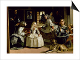 Las Meninas, Detail of the Lower Half of the Family of Philip IV (1605-65) of Spain, 1656 Prints by Diego Velázquez
