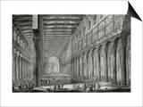 Basilica of San Paulo Fuori Le Mura, Rome, from Le Antichita Romane de G.B. Piranesi Posters by Giovanni Battista Piranesi