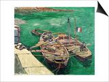 Landing Stage with Boats, c.1888 Kunstdrucke von Vincent van Gogh