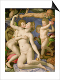 An Allegory with Venus and Cupid, circa 1540-50 Posters by Agnolo Bronzino