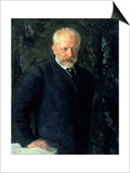 Portrait of Piotr Ilyich Tchaikovsky (1840-93), Russian Composer, 1893 Prints by Nikolai Dmitrievich Kuznetsov