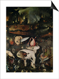 The Garden of Earthly Delights, Hell, Right Wing of Triptych, circa 1500 Poster von Hieronymus Bosch