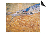 The Harvester Print by Vincent van Gogh
