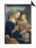 Madonna and Child with Angels, c.1455 Poster af Fra Filippo Lippi