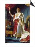 Napoleon I in His Coronation Robe, circa 1804 Posters by Francois Gerard