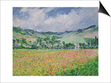 The Poppy Field Near Giverny, 1885 Posters av Claude Monet