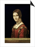Portrait of a Lady from the Court of Milan, circa 1490-95 Art by  Leonardo da Vinci
