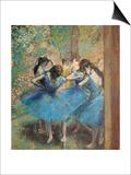 Dancers in Blue, c.1895 Poster by Edgar Degas